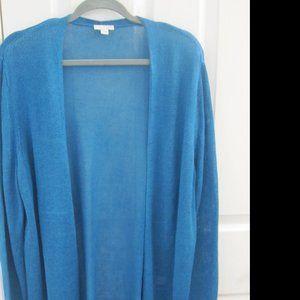 J. Jill Gorgeous Linen Teal Summer Sweater Size XL